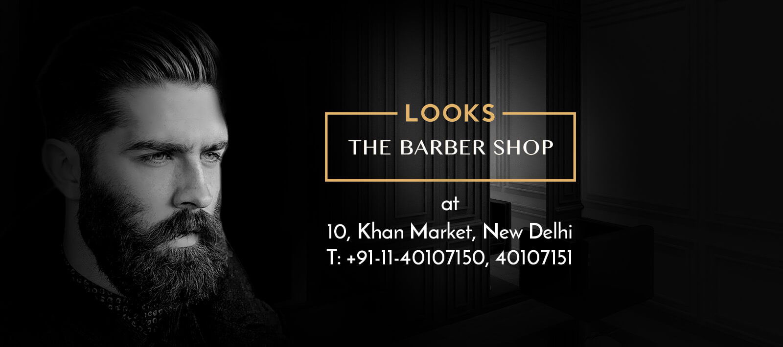 Promotional Banner of The Barber Shop, Khan Market, New Delhi