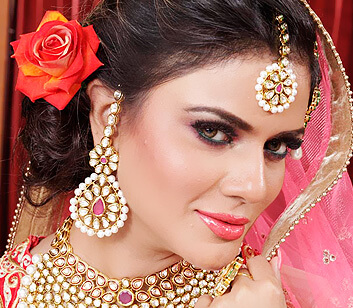 bridal makeup hairstyle - Looks Salon
