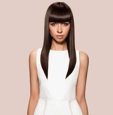 Straightened Hairstyle - Looks Salon