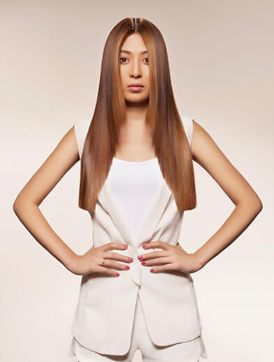 Hair Straigtening Style for Women - Looks Salon
