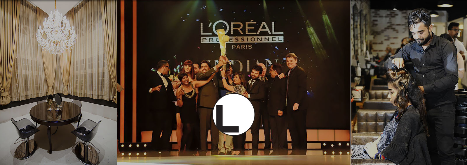 Banner Image - Award by Loreal received by Looks Salon Team